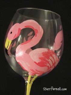 LT Stained glass pink Flamingo