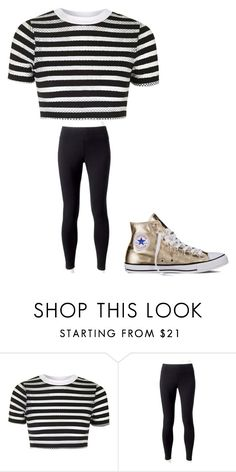 """""""Untitled #1236"""" by coolcat64265leeacoiron ❤ liked on Polyvore featuring Topshop, Jockey and Converse"""