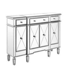 online shopping for Contempo 48 Wide 3 Drawer Server Willa Arlo Interiors from top store. See new offer for Contempo 48 Wide 3 Drawer Server Willa Arlo Interiors Decor, Furniture, Mirrored Furniture, Mirror Cabinets, Cabinet, Accent Doors, Adjustable Shelving, Furniture Sale, Accent Cabinet