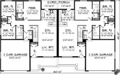 Country Style House Plans - 2514 Square Foot Home , 1 Story, 6 Bedroom and 4 Bath, 4 Garage Stalls by Monster House Plans - Plan 7-887