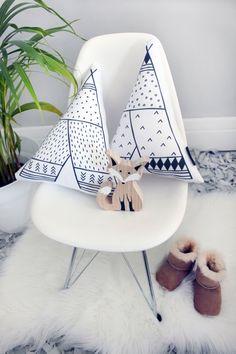 Teepee Cushion Set 2PC Pillow Set Scandinavian Decor by kiderooSA