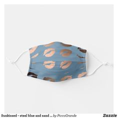 Sunkissed - steel blue and sand color lips pattern adult cloth face mask Mouth Mask Fashion, Mask Online, Uk Fashion, Mask For Kids, Lip Colors, Snug Fit, Sensitive Skin, Mothers, Gifts For Her