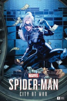 Spider-Man: City at War variant cover - Black Cat by Jay Analecto * Marvel Dc, Marvel Girls, Mundo Marvel, Marvel Comic Character, Marvel Movies, Black Cat Marvel, Mundo Comic, New Avengers, Marvel Entertainment