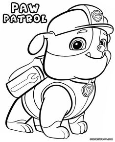 Rubble Paw Patrol Coloring Pages Coloring Pages Coloring