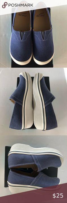 NIB Dansko Girl Kids Clog Shoes Vesta Canvas Navy Slip On Shoes Sz Eur 26