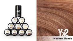 Yx2-hiustuuhennetta on saatavana 9 eri värisävyä, kuten tämä keskivaalea (Medium Blonde) sävy. Voit käyttää myös eri sävy-yhdistelmiä, jolloin löydät tarvittaessa juuri oikean sävyn. Yx2-tuotteet löydät: www.yx2.fi/kauppa #yx2 #hiustuuhenne #sävy #color #mediumblonde #keskivaalea
