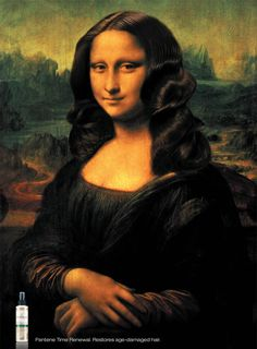 Mona Lisa with great hair in Pantene ad