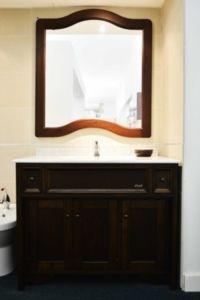 Mobile da bagno rovere con lavabo, pensili e specchio [Archeda ...