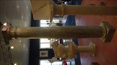 Säule in Marmor - http://achillegrassi.com/de/project/colonne-stile-dorico-in-marmo-carrara-bluette-lucido/ - Dorische Säule in hellblauemMarmor Carrara, poliert Maße:  250cm x 40cm x 40cm Ø 30cm