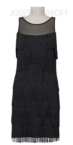 Dress for Women, Evening Cocktail Party On Sale, Black, polyester, 2017, 12 14 16 Joseph Ribkoff