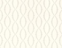 Beaded Trellis Wallpaper A geometric wallpaper with an oval trellis design in reflective beads on white.