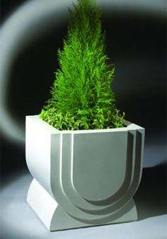 Arc Diy Concrete Planters, Stone Planters, Fiberglass Planters, Garden Planters, Cement Flower Pots, Contemporary Planters, Concrete Crafts, Concrete Design, Garden Stones