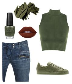 """I'm a Cool Girl!"" by kaiseralisha ❤ liked on Polyvore featuring WearAll, adidas Originals, Balmain, Lime Crime, Bobbi Brown Cosmetics and OPI"