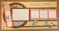 PJ's Corner: Babycakes Workshop - 4 two-page layouts and 4 cards