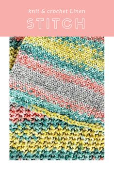 Vickie Howell shows how to knit and crochet the #linenstitch