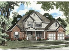 The Ambrosia Country Home has 3 bedrooms, 2 full baths and 1 half bath. See amenities for Plan 055D-0469.