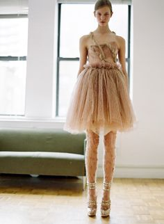 Karlie Kloss in Rodarte 2008, I would use this for a dance costume.