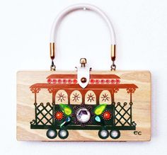 Etsy の Enid Collins of Texas Cable Car Box Bag by niwotARTgallery