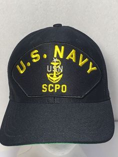 d55b4d068f2 Vintage US Navy SCPO Snapback Hat USA Made Senior Chief Petty Officer   EagleCrest  BaseballCap