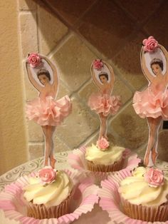 Pretty Ballerina Cupcake Toppers for Birthday Party by JeanKnee