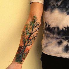 tree tattoo by Ondrash, Znojmo, Chech Republic | tree tattoo