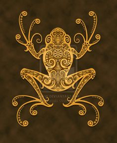 Tribal Frog Tattoo Image