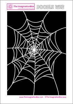 The ImaginationBox: Halloween doodle spider web, free printable activity for kids. Make the web multicolored - a great tracing activity for developing fine motor skills.
