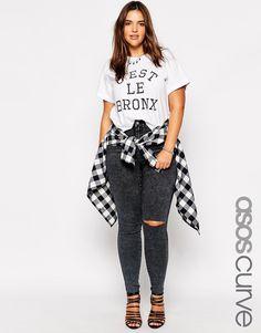 De verano Adornos Con Curve Fix Negro Camiseta Asos Primavera Tornasolados Hot Design OTkiXZulwP
