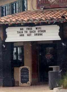 Talk to Each Other and Get Drunk!