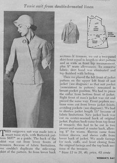 Organized clutter: recycling a man's suit organized clutter: recycling a man's suit 1951 diy clothes refashion, refashioned clothes, women's Burda Patterns, Vintage Sewing Patterns, Suits For Women, Mens Suits, Diy Clothes Refashion, Refashioned Clothes, Women's Day Magazine, Sewing Lessons, Sewing Hacks