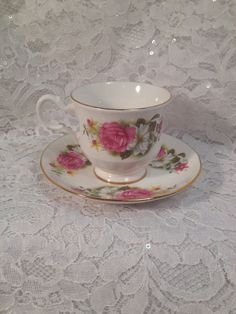 Vintage Queen Anne Bone China Tea Cup and Saucer by MySweetMadison