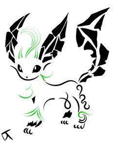 Tribal Leafeon by Shadowy-Skies on DeviantArt Tribal Pokemon, Fan Art Pokemon, Pokemon Tattoo, Pokemon Go, Tribal Animal Tattoos, Tribal Drawings, Tribal Art, Art Drawings, Colorful Owl Tattoo