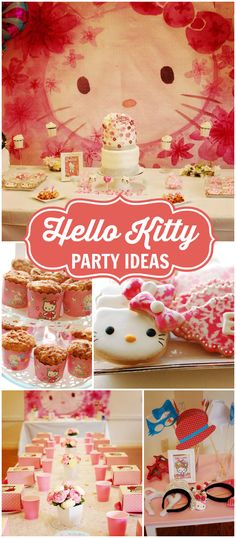How gorgeous is this Hello Kitty birthday party? See more party ideas at CatchMyParty.com!