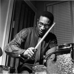 Max Roach, jazz drummer and composer - Jan. 10, 1924 - 2007…