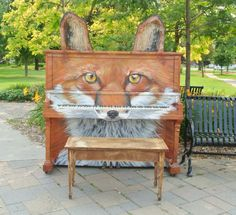Foxgang Amadeus painted by artist Katriona Dean