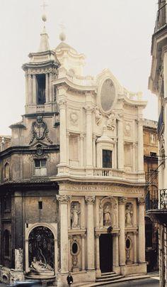 Borromini, San Carlo alle Quattro Fontane, 1665-76. Rome.