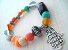 Yoga bracelet  Boho Chic Bracelet  Mala Bracelet  by Gnosticos, $30.00
