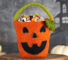 Pumpkin Felted Wool Treat Bag #pbkids