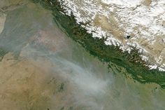 Hundreds of fires continued to burn in north-west India on 28 October. Most of the fires are located in the agricultural Punjab region,