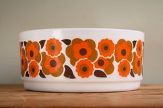 Vintage French Arcopal Salad Bowl