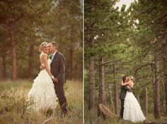 This is what I want.. Wedding in the woods and true love! ;)