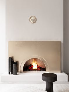 Cameo Moscow on Behance Home Fireplace, Fireplace Surrounds, Fireplace Design, Fireplaces, Apartment Interior Design, Deco Design, Living Room Inspiration, Interiores Design, Decoration