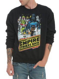Star Wars The Empire Strikes Back Crew Pullover, BLACK