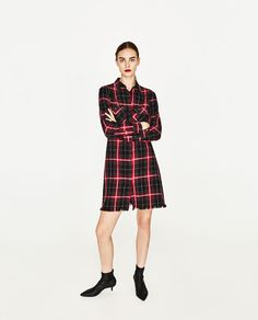 ZARA - WOMAN - CHECKED DRESS