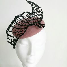 Plastic fantastic - pink hat with molded plastic trim Plastic Trim, Pink Hat, Fascinator, Anna, Hats, Headdress, Hat