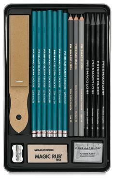 Graphite Drawing Set by Prismacolor.  I usually use Prismacolor for their vivid colored pencils.