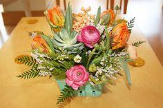 Spring Floral Arrangement by Hoopla Event Design & Styling