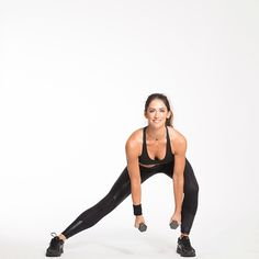 SIDE LUNGE + BICEP CURL Do 14 reps on each side!
