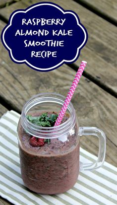 Raspberry Almond Kale Smoothie Recipe http://makobiscribe.com/raspberry-almond-kale-smoothie-recipe/
