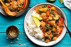 Senegalese chicken and peanut stew with broken rice
